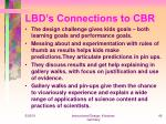 lbd s connections to cbr