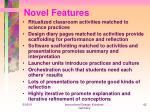 novel features42
