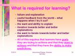 what is required for learning
