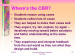 where s the cbr