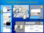 sample application scenario