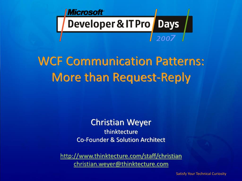 wcf communication patterns more than request reply l.