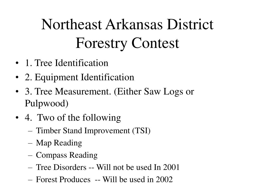 northeast arkansas district forestry contest l.