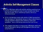 arthritis self management classes