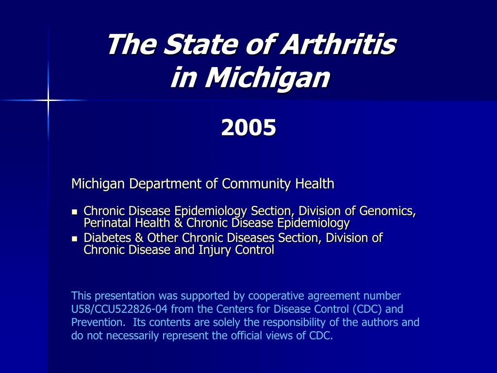 the state of arthritis in michigan l.