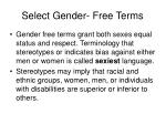 select gender free terms