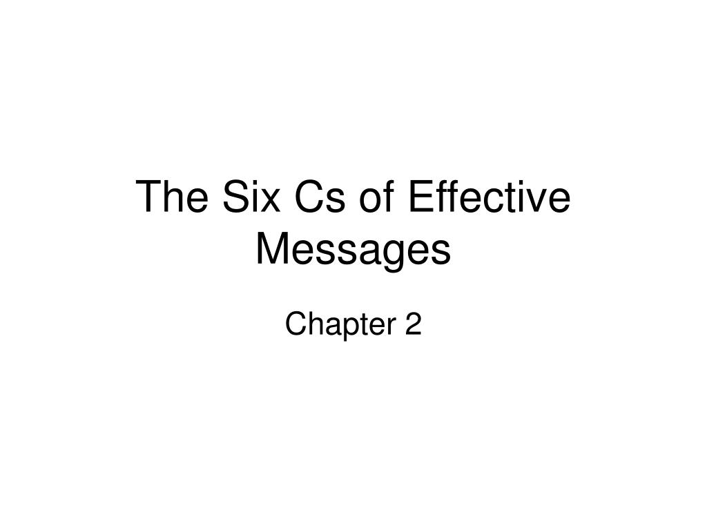 the six cs of effective messages l.