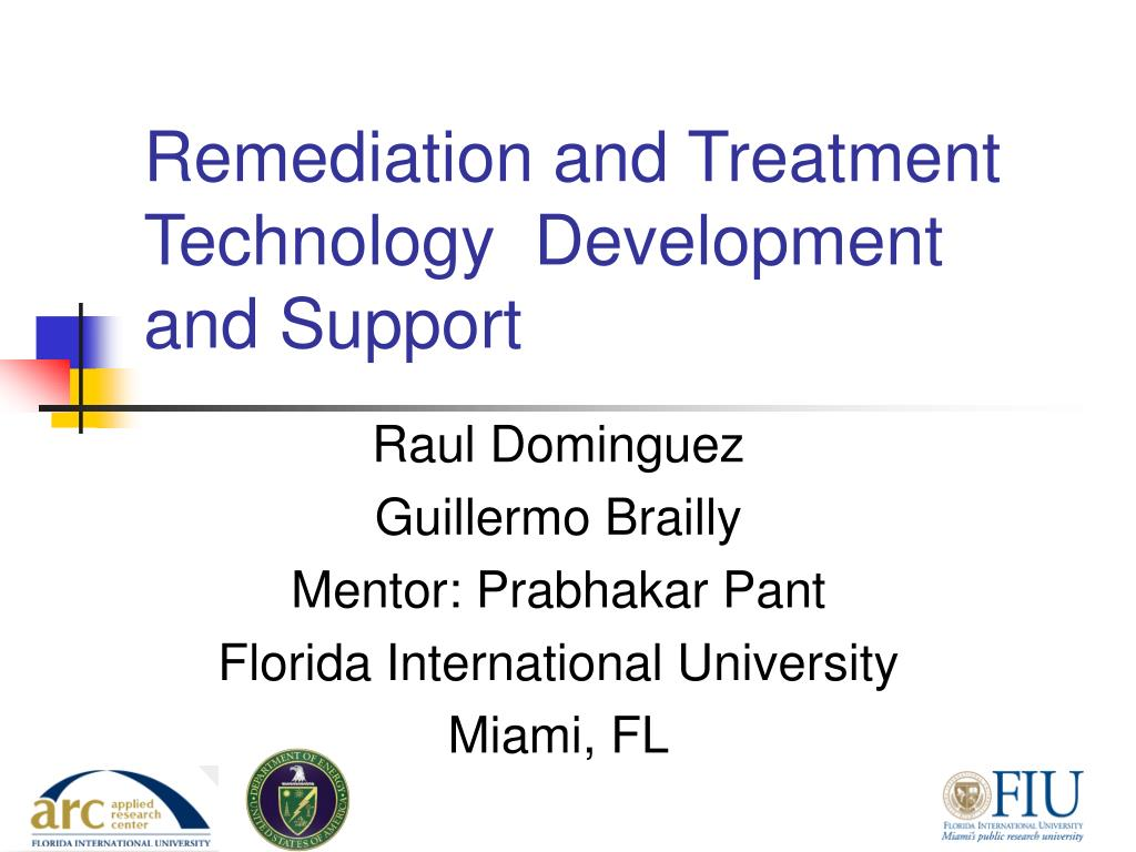 remediation and treatment technology development and support l.