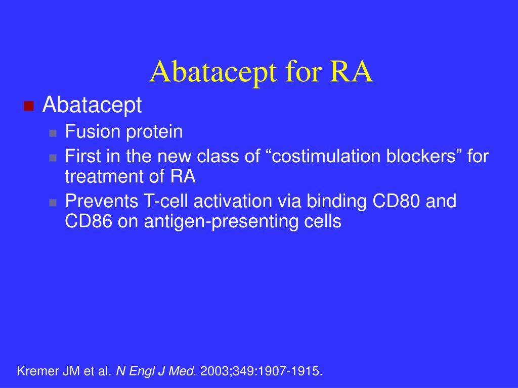 Abatacept for RA