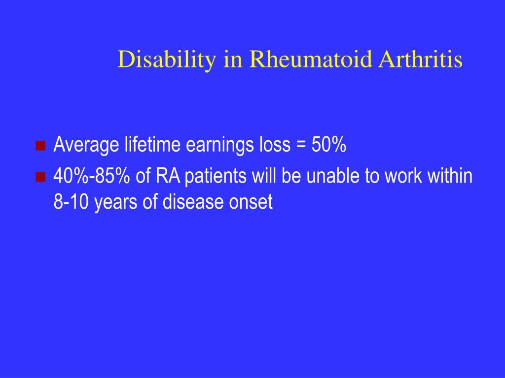 Disability in Rheumatoid Arthritis