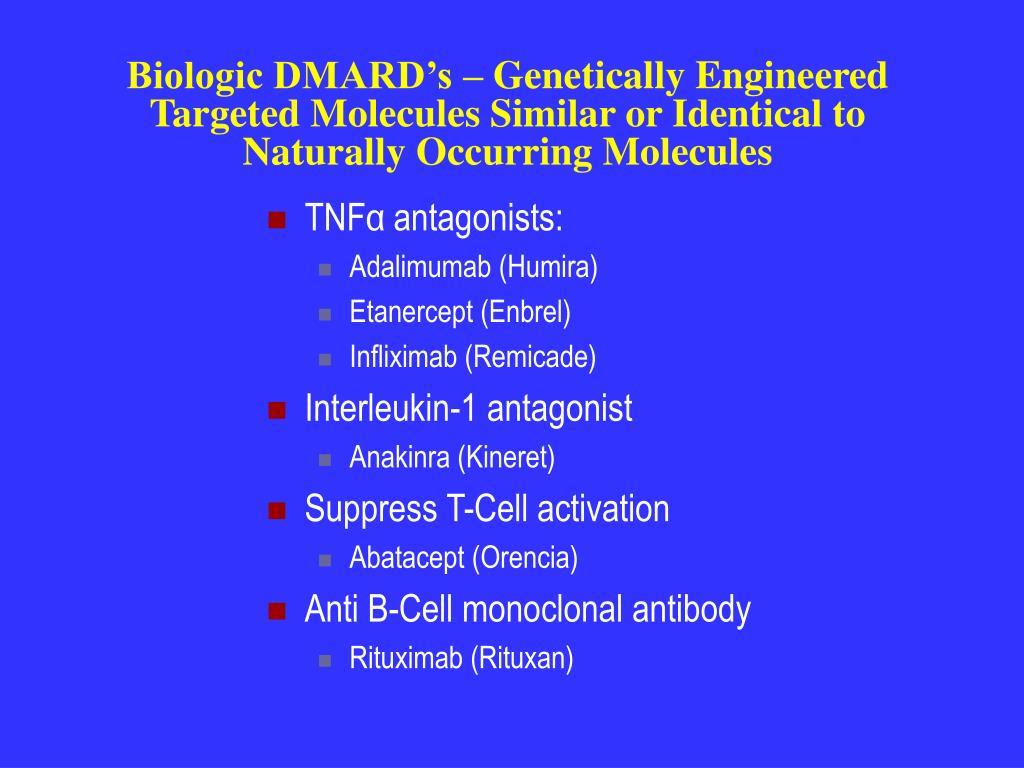 Biologic DMARD's – Genetically Engineered