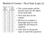 modulo 6 counter next state logic i