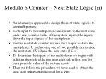 modulo 6 counter next state logic ii