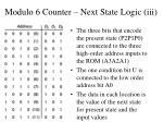 modulo 6 counter next state logic iii22