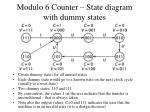 modulo 6 counter state diagram with dummy states