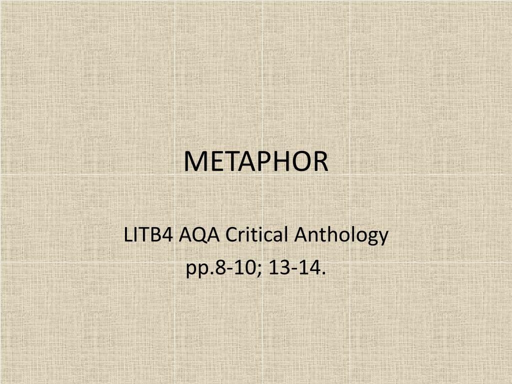 metaphor l.