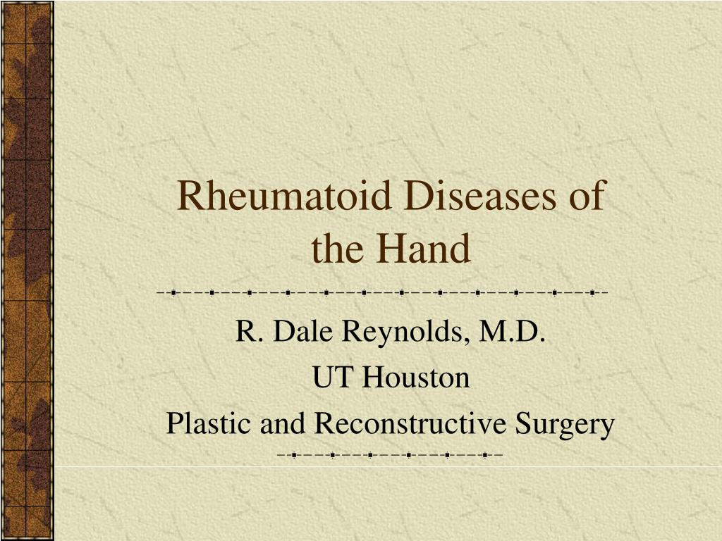 rheumatoid diseases of the hand l.