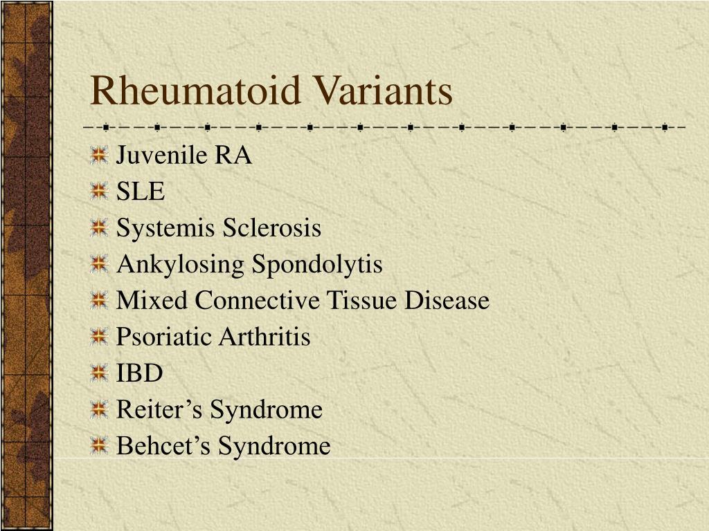 Rheumatoid Variants