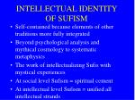 intellectual identity of sufism