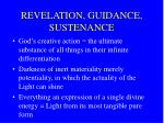 revelation guidance sustenance