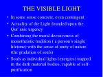 the visible light