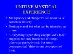 unitive mystical experience