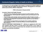 contractor supplier safety health at lm aero