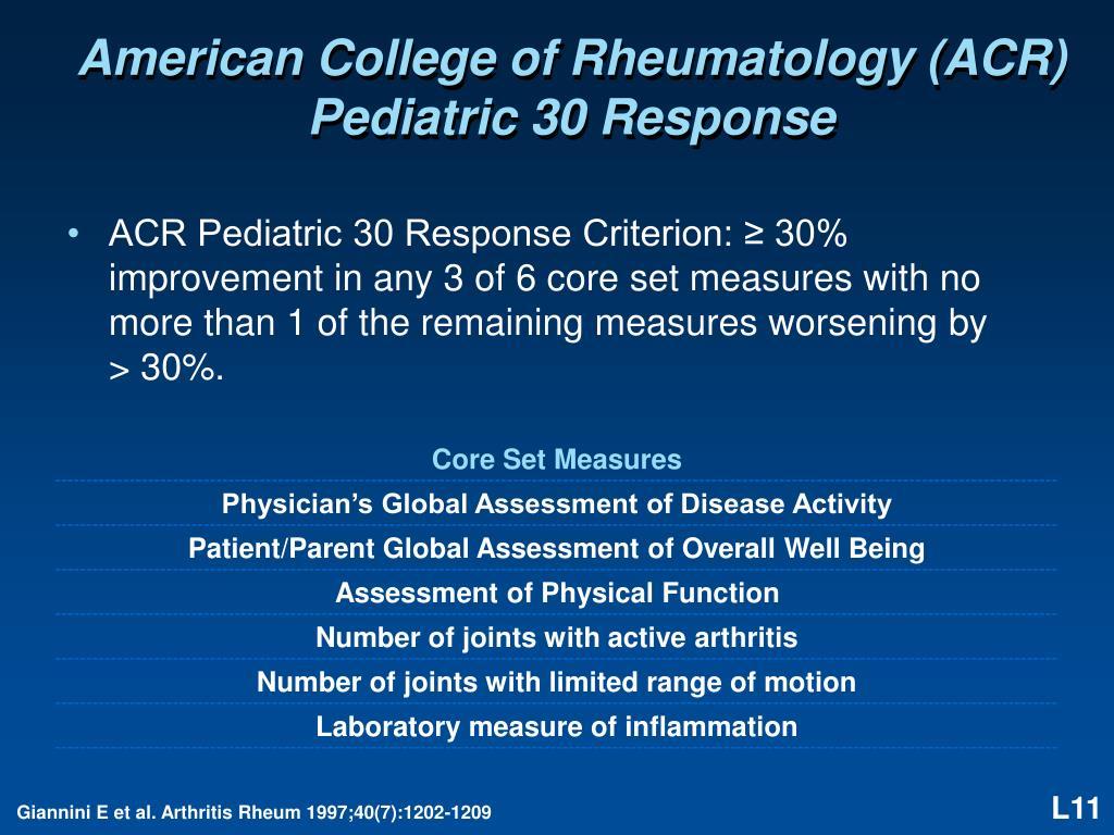 American College of Rheumatology (ACR)