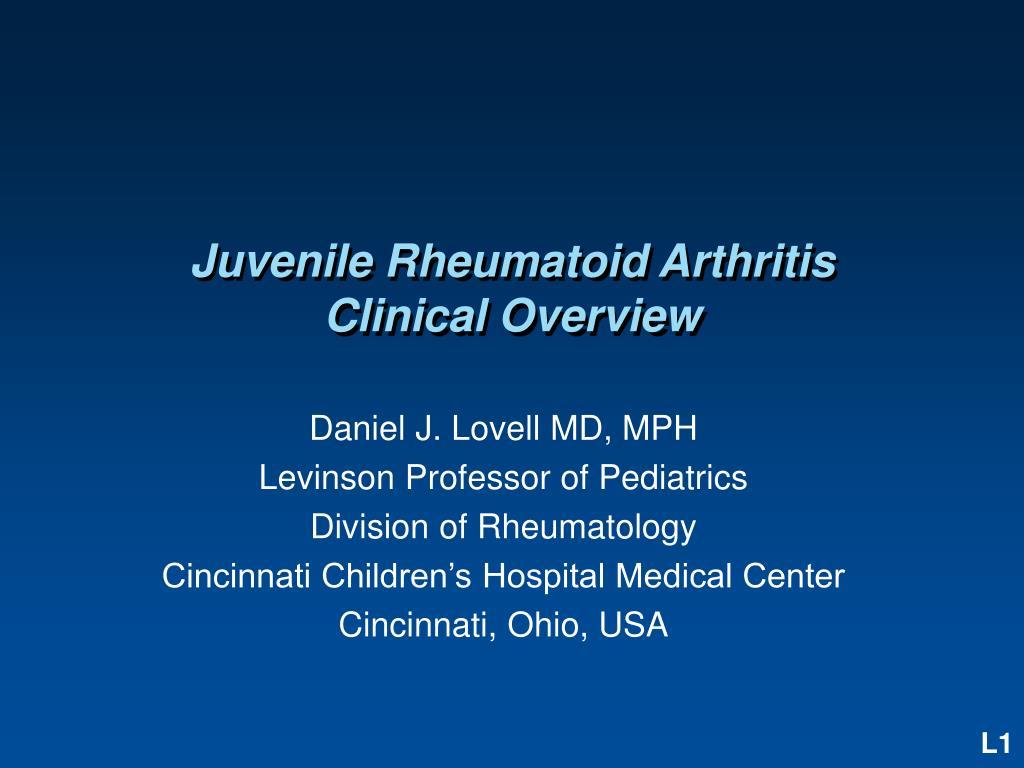 juvenile rheumatoid arthritis clinical overview l.