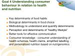goal 4 understanding consumer behaviour in relation to health and nutrition