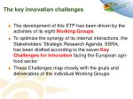 the key innovation challenges