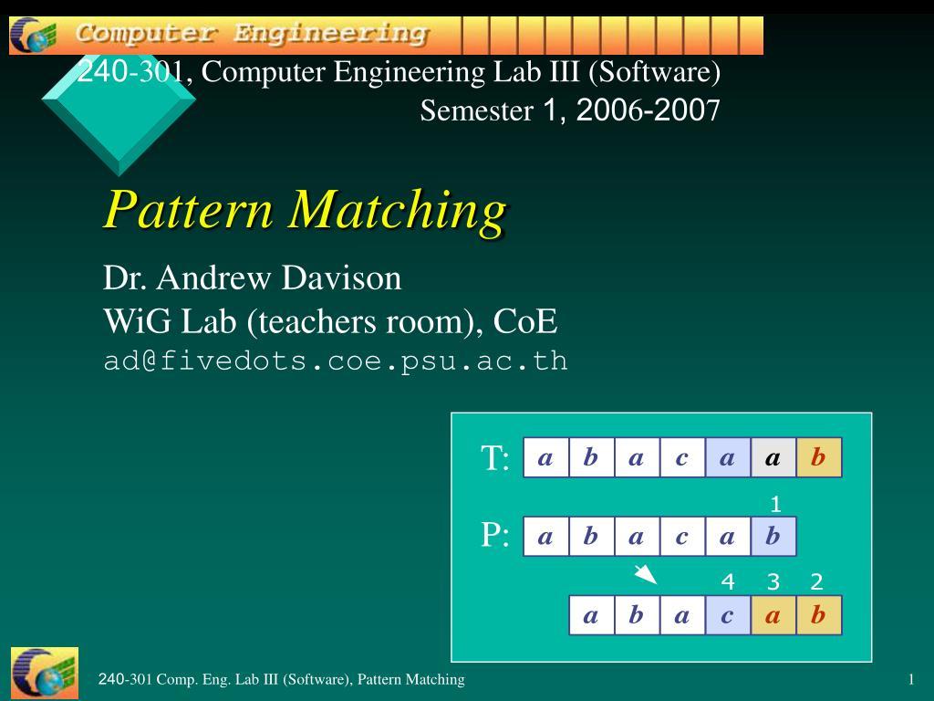pattern matching l.