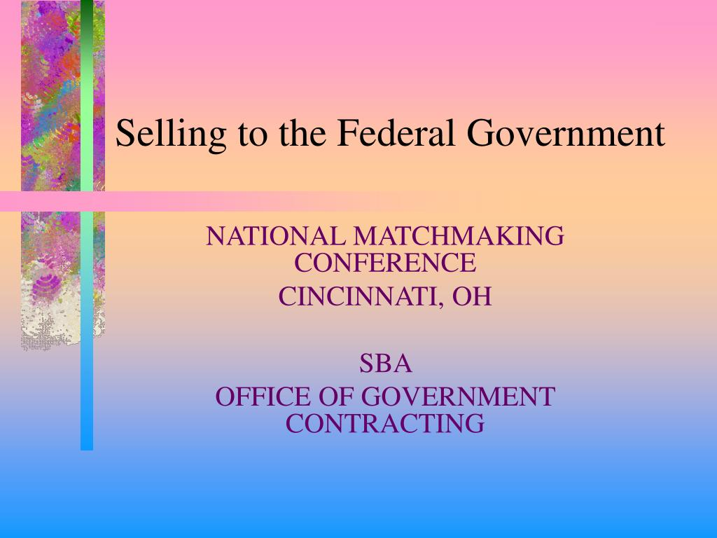 selling to the federal government l.
