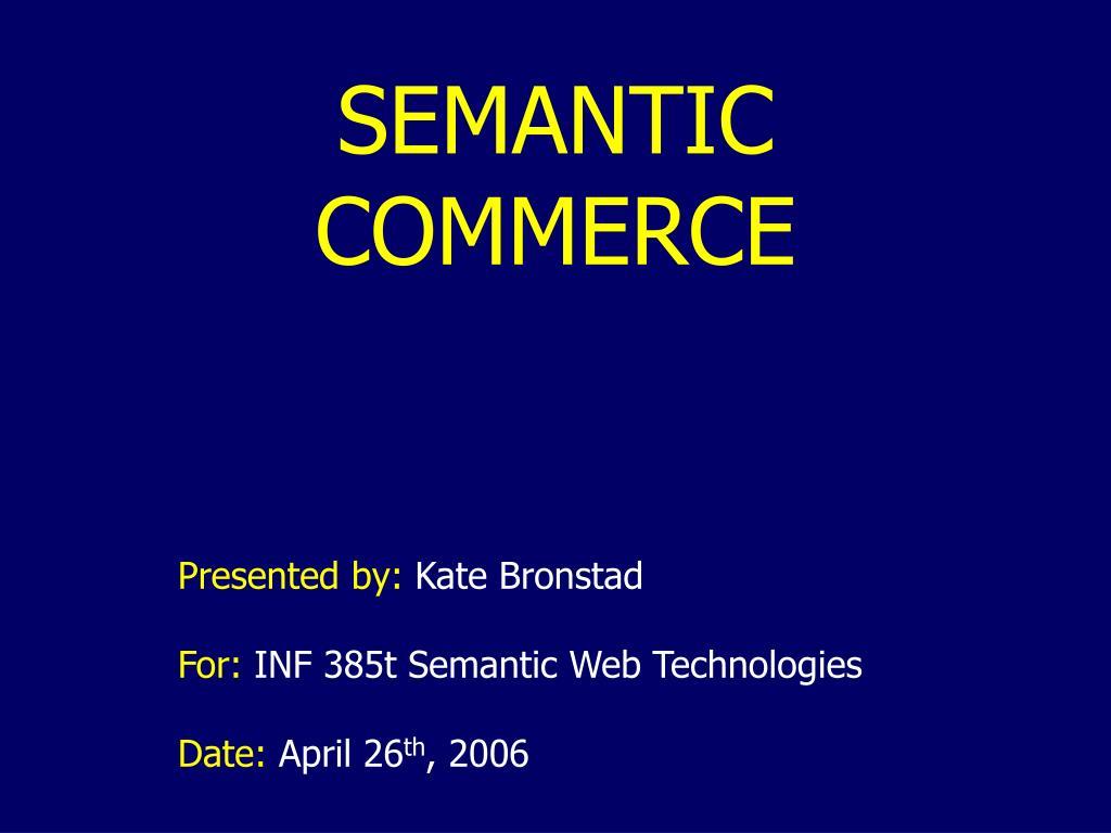 semantic commerce l.