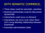 with semantic commerce