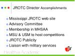 jrotc director accomplishments