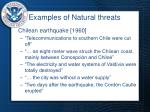 examples of natural threats