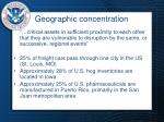 geographic concentration
