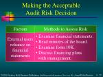 making the acceptable audit risk decision