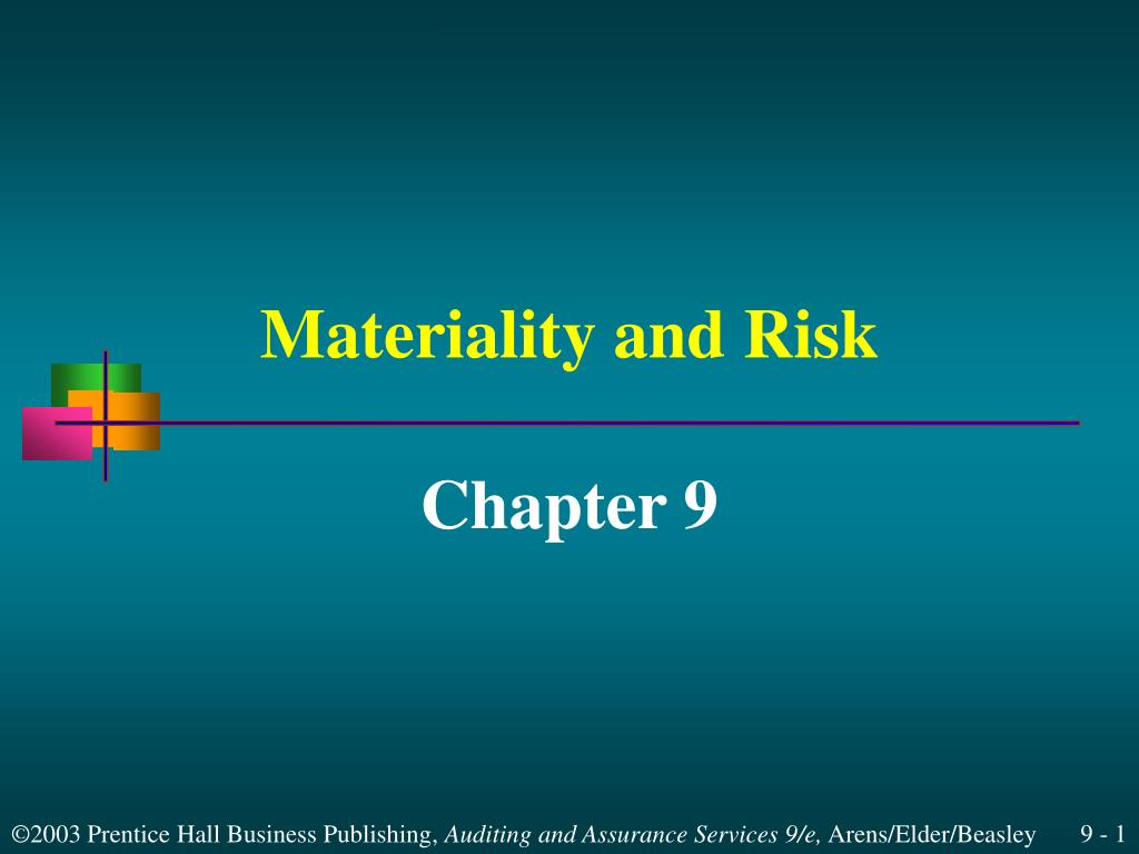 materiality and risk l.