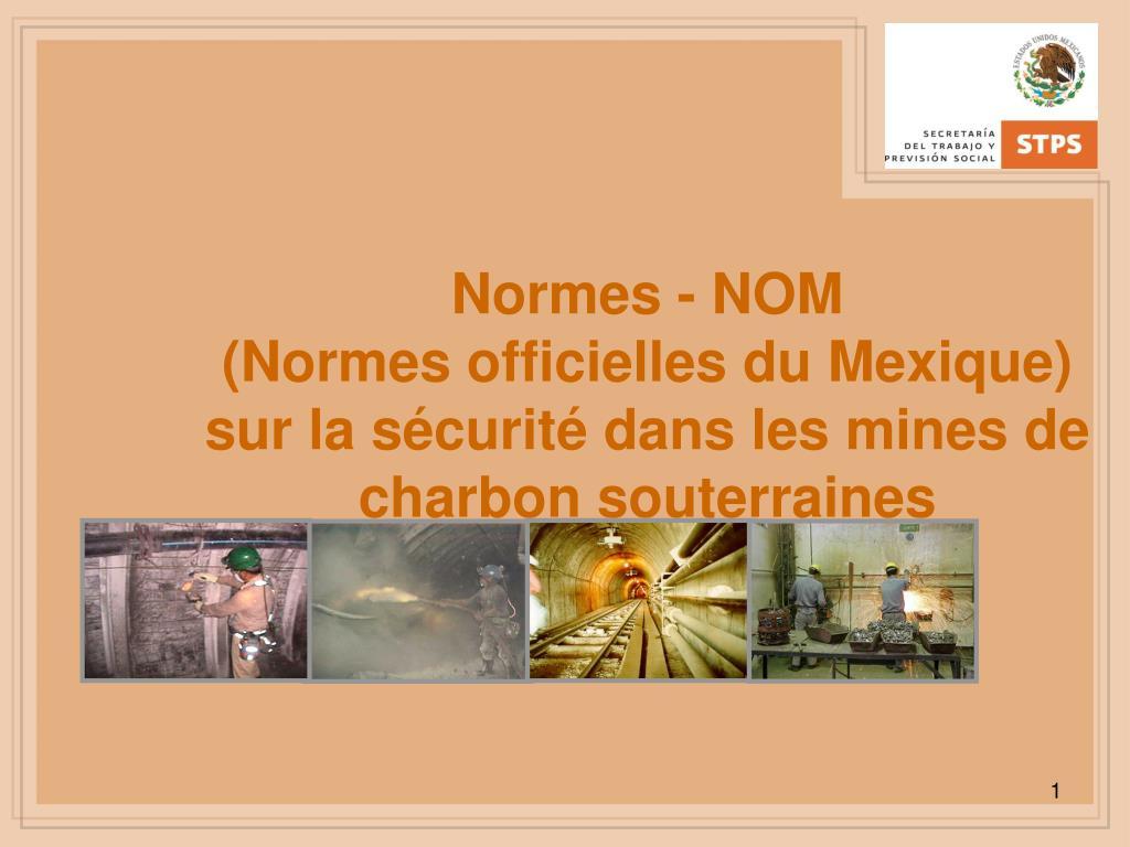 Normes - NOM