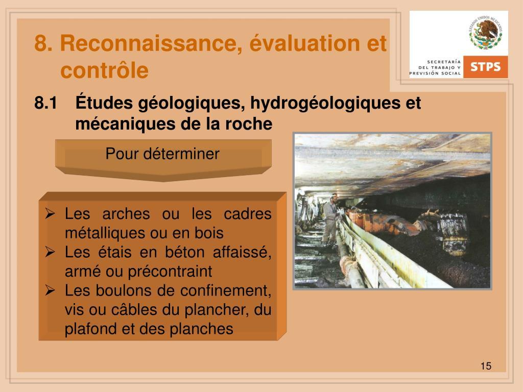 8. Reconnaissance, évaluation et contrôle
