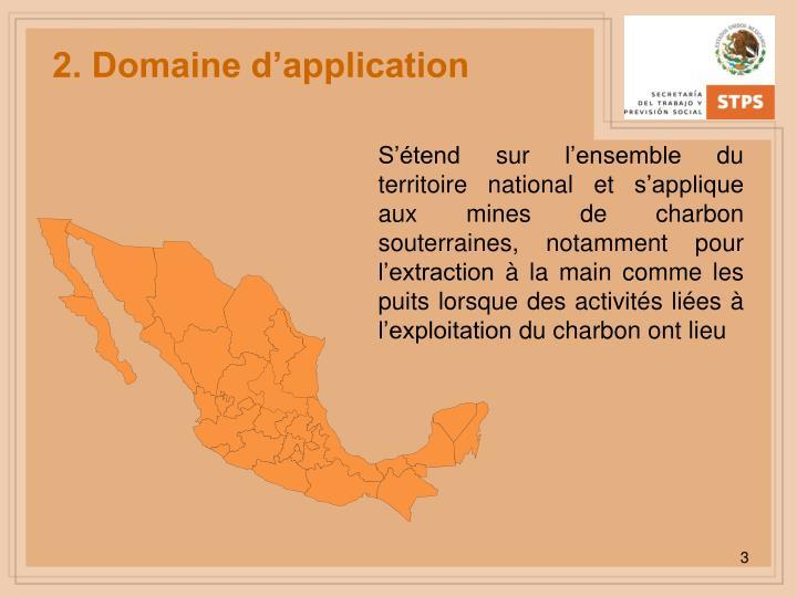 2. Domaine d'application