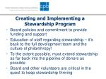 creating and implementing a stewardship program