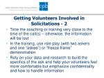 getting volunteers involved in solicitations 2