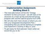 implementation assignment building block 5