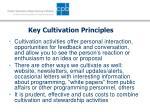 key cultivation principles12