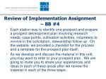 review of implementation assignment bb 4