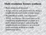 multi resolution texture synthesis