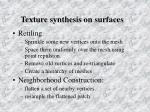 texture synthesis on surfaces